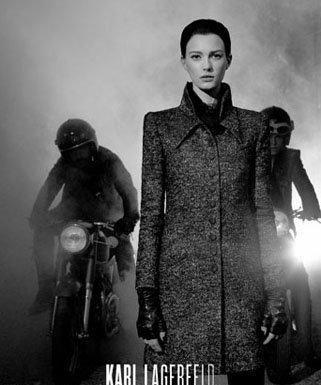 Karl Lagerfeld publicité moto
