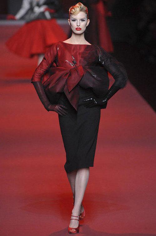 Dior haute couture printemps été 2011 rouge noir
