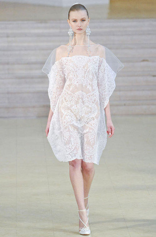 alexis mabille robe blanche
