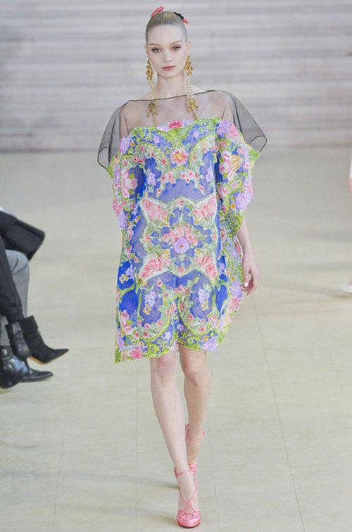 alexis mabille robe fleur