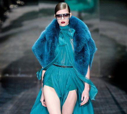 Gucci prêt à porter automne hiver bleu