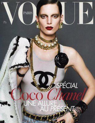 Couverture Vogue mars 2009